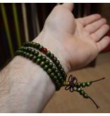 Enso Martial Arts Shop Green Buddhist Mala Beads Bracelet