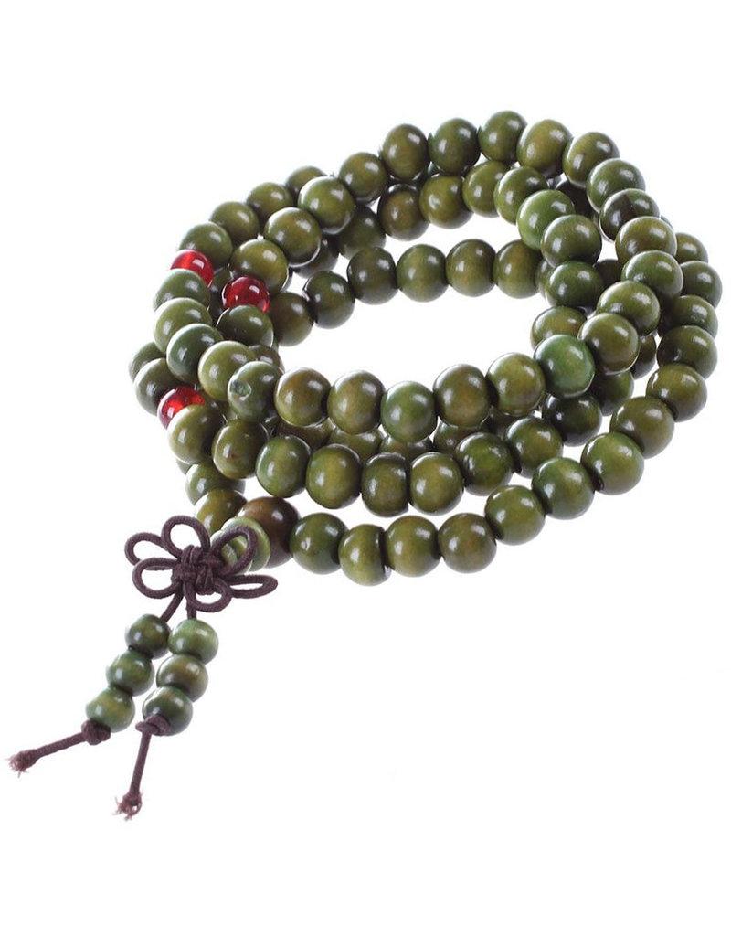 Enso Martial Arts Shop Green Buddhist Mala Beads