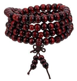 Enso Martial Arts Shop Red Buddhist Mala Beads Bracelet