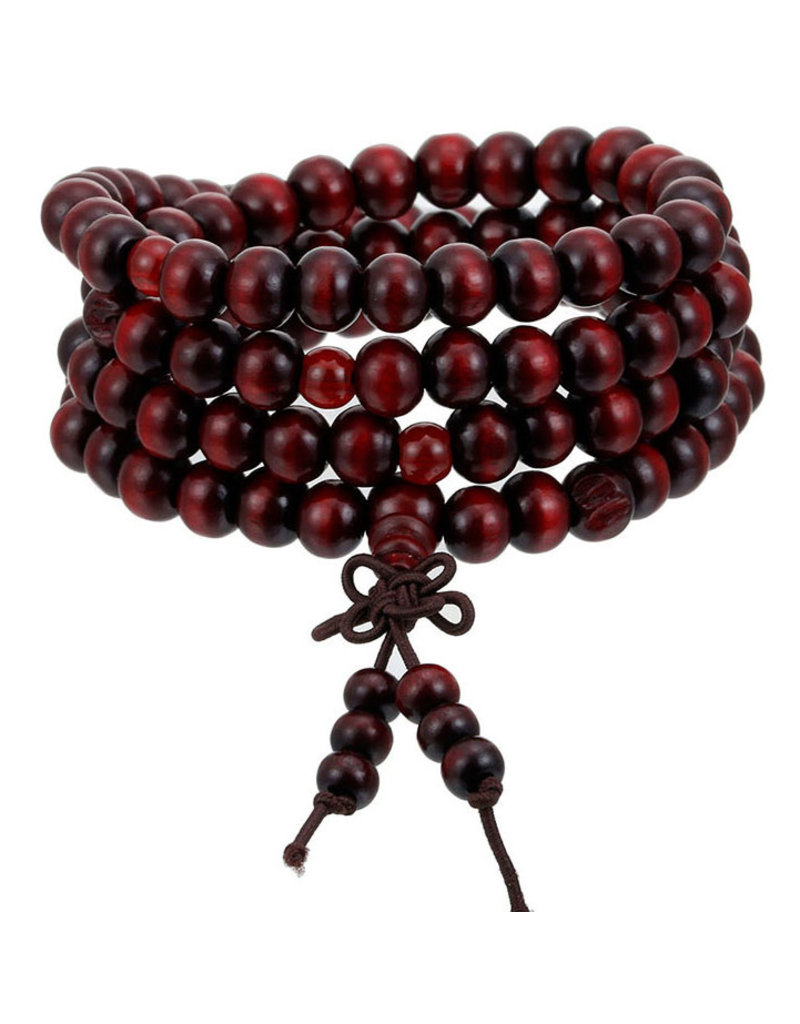 Enso Martial Arts Shop Red Buddhist Mala Beads