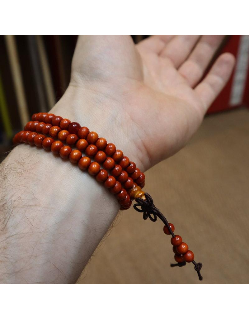 Orange Buddhist Mala Beads