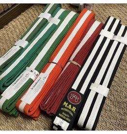 Coloured White Stripe Belt Bundle