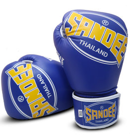 Sandee Sandee Boxing Gloves Cool Tec Blue & Yellow