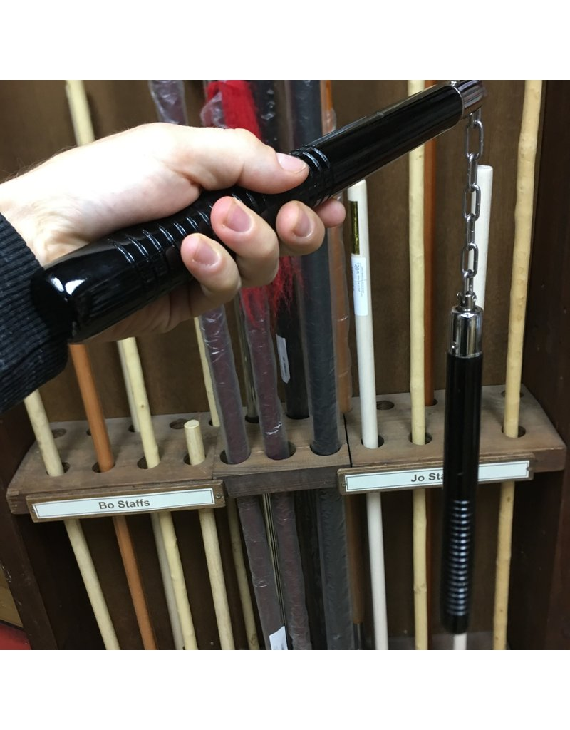 Enso Martial Arts Shop Black Wooden Nunchaku with Chain