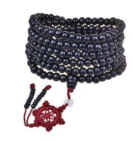 Enso Martial Arts Shop Black Buddhist Mala Beads Necklace