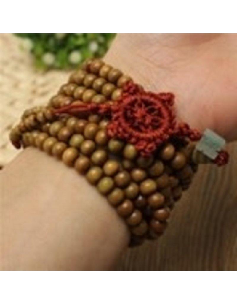 Enso Martial Arts Shop Green Buddhist Mala Beads Necklace