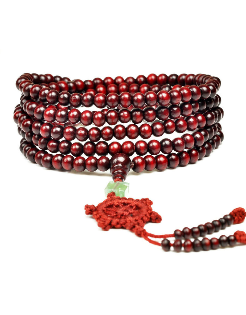 Enso Martial Arts Shop Red Buddhist Mala Beads Necklace