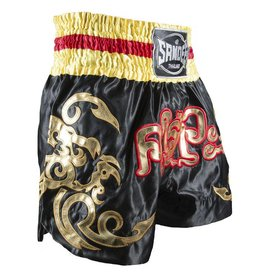 Sandee Sandee Thai Shorts Respect Yellow & Black