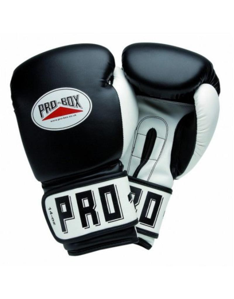 Black Pro Box Boxing Gloves Sparring Training Leather Club Essentials