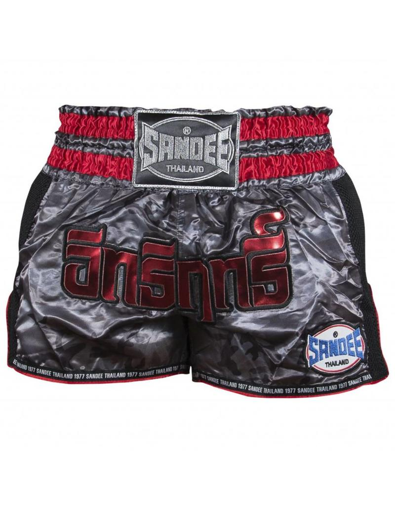 Sandee Sandee Thai Shorts Supernatural Grey & Red