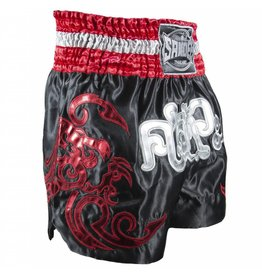 Sandee Sandee Thai Shorts Respect Red & Black