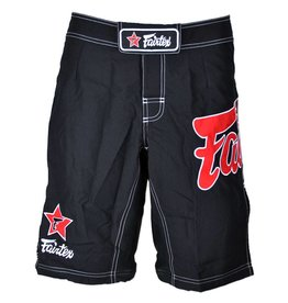 Fairtex Fairfex MMA Shorts Black with Red Logo
