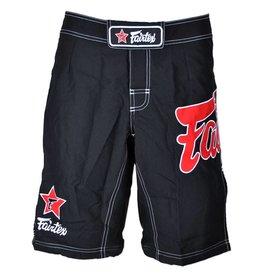 Fairtex Fairtex MMA Shorts Black with Red Logo