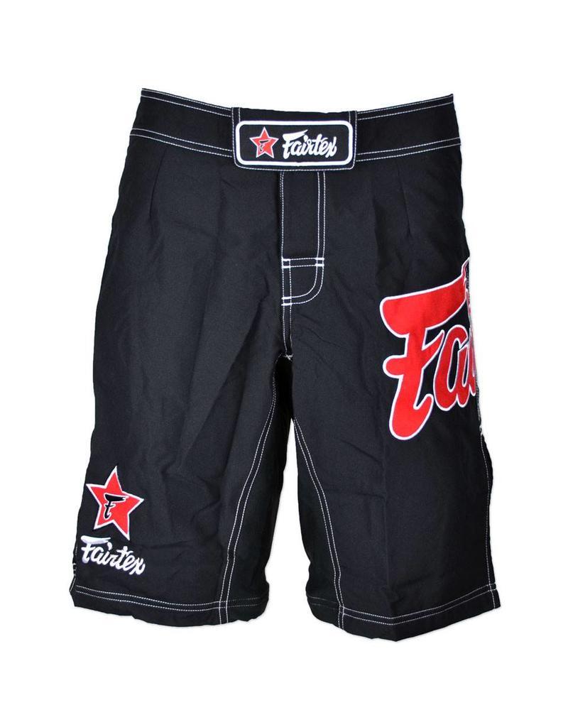 Fairtex Fairfax MMA Shorts Black with Red Logo