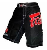 Fairtex Fairfex MMA Shorts Black with Red Logo