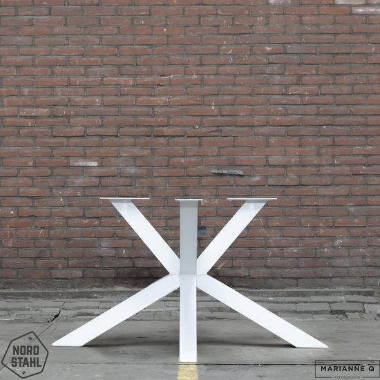 Nordstahl Industrieel tafelonderstel Tafelpoot Matrix leg  WIT