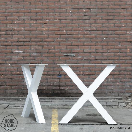 Nordstahl Industrieel tafelonderstel X leg WIT