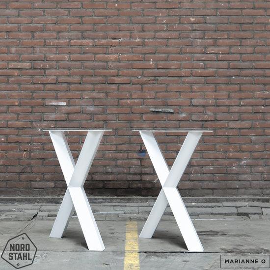 Nordstahl Industrieel tafelonderstel Diamond X leg WIT