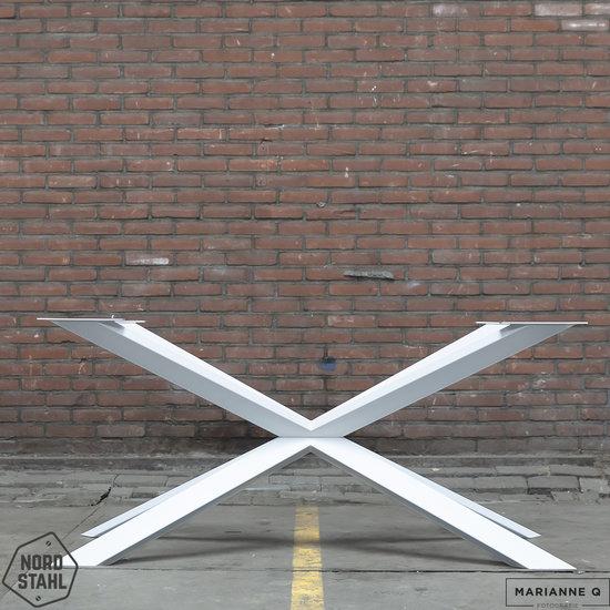 Nordstahl Industrieel tafelonderstel Tafelpoot Spider leg WIT