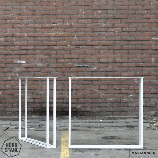 Nordstahl Industrieel tafelonderstel Twin U leg WIT