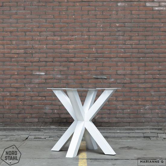 Nordstahl Industrieel tafelonderstel Tafelpoot Double X leg  WIT