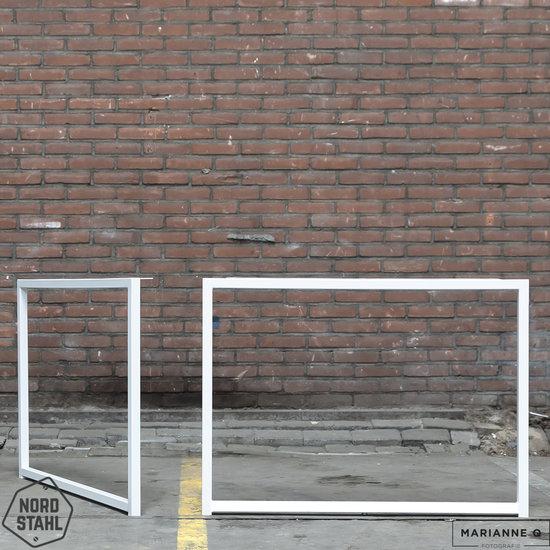 Beton-tafels.com Betonnen tafel met stalen Frame tafelpoten