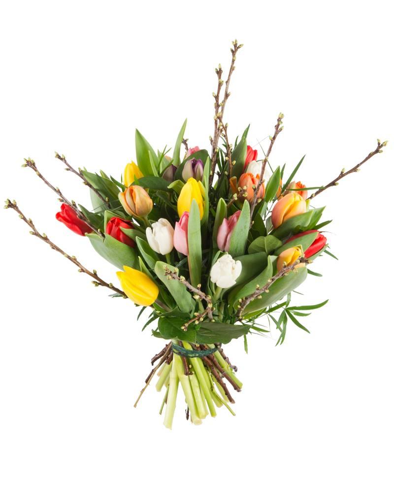 Gemengde tulpen boeket