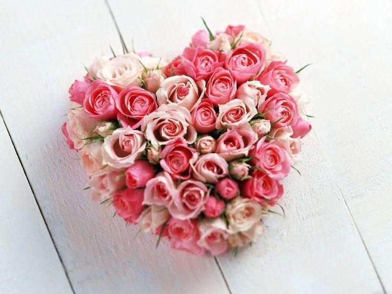 Lief rose hartje