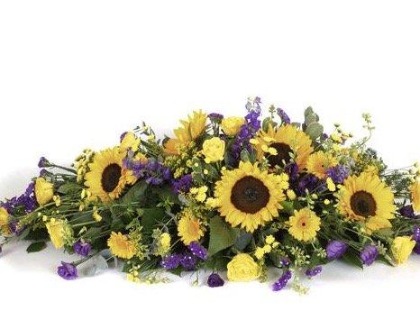 Rouwstuk zonnebloemen