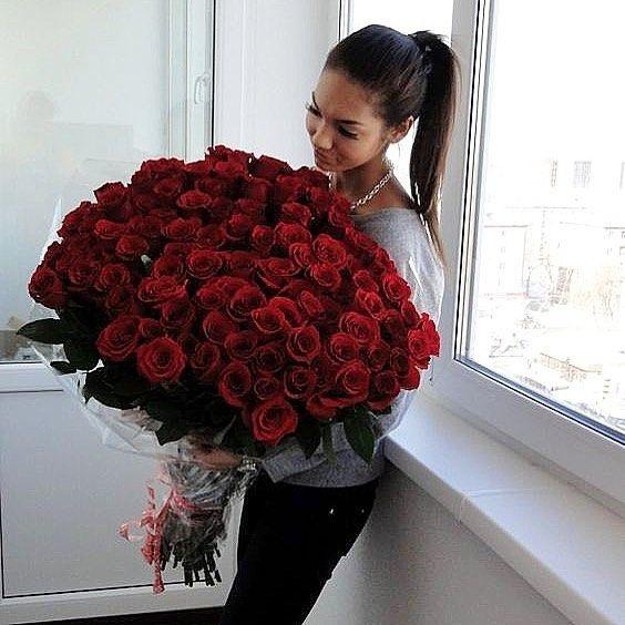 Lange rode rozen 80 cm