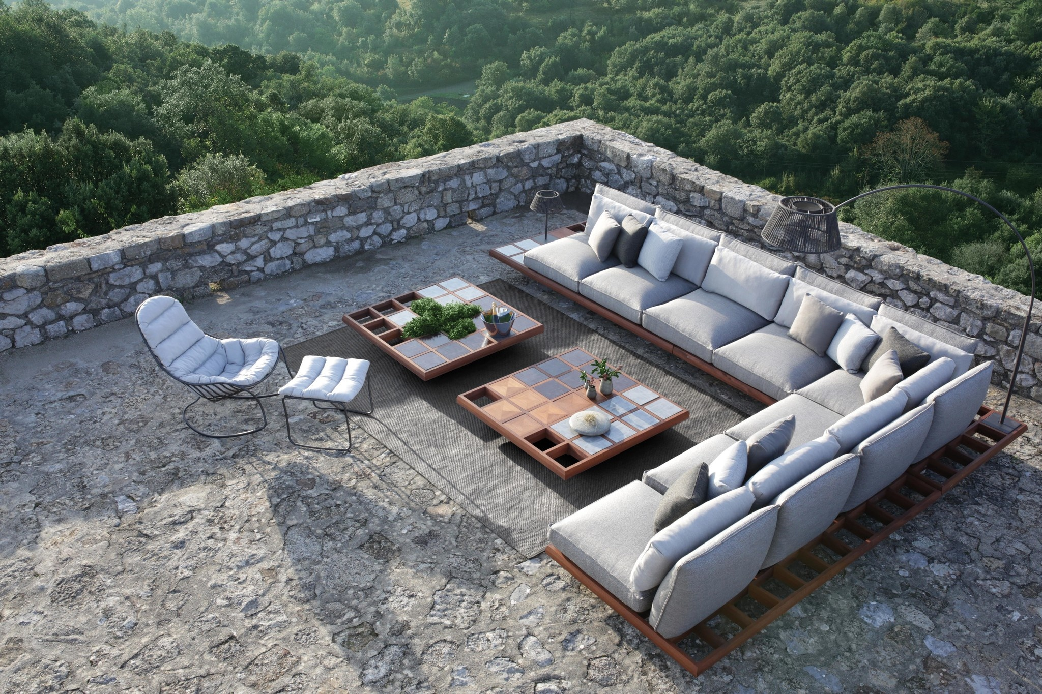 Outdoor Rug - 200x300 - Antraciet