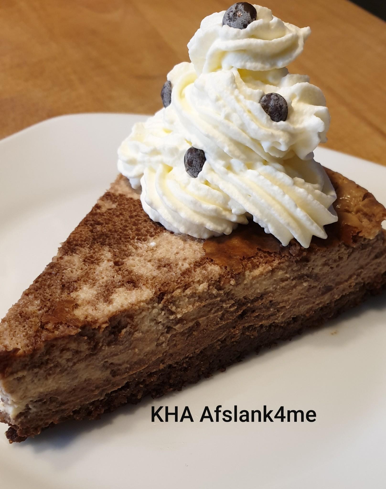 Chocolade Swirl Cheesecake-Koolhydraatarm