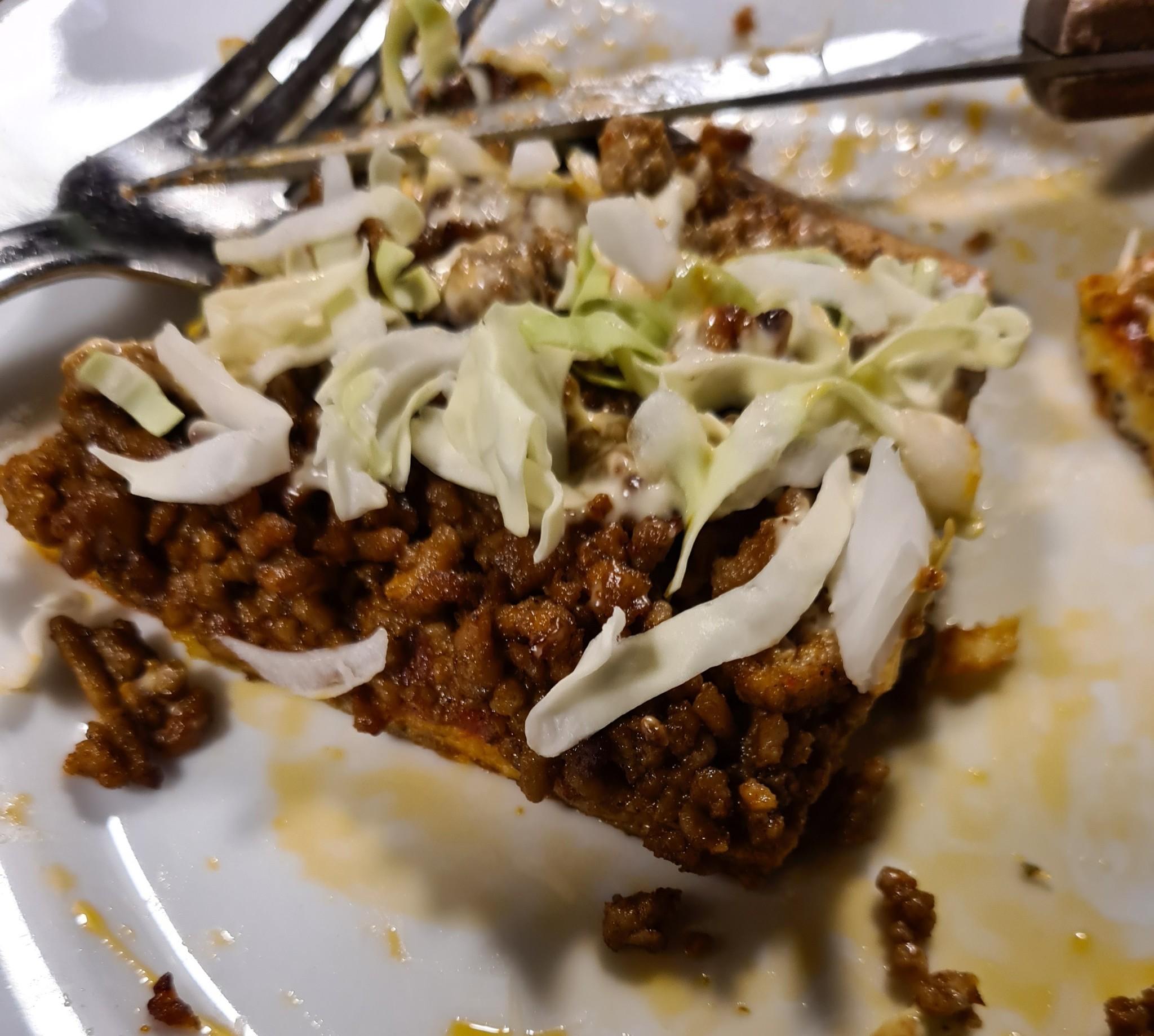 Fathead Pizza Taco-KHA met eigen gemaakte kruiden