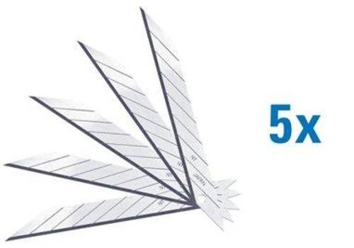 NT-Cutter® NT Abbrechklingen 30º Supersharp 5er Pack