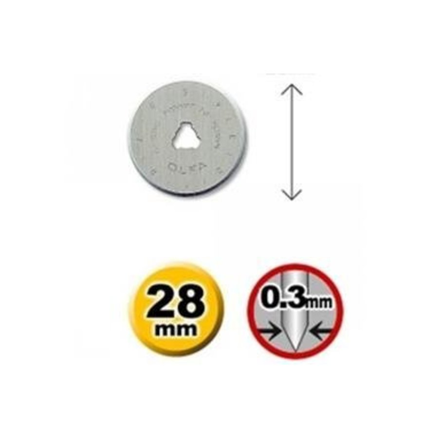 120-RB28-10 Olfa 28mm Wolfram Werkzeugstahl Rotationsmesser-4