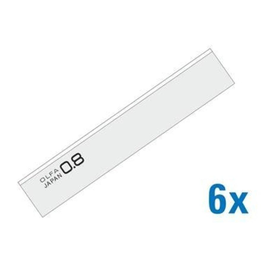 120-BS08/6B 100 mm Schaber Klingen 8 mm dick-1