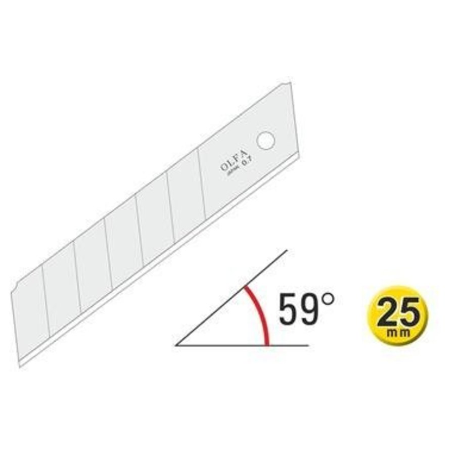 120-HB-20B 25mm Silver Snap-Off Blades-1