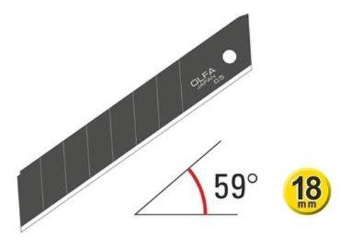 OLFA® 120-LBB-10 18mm Excel Schwarz Ultra-Sharp Snap-Off Blades