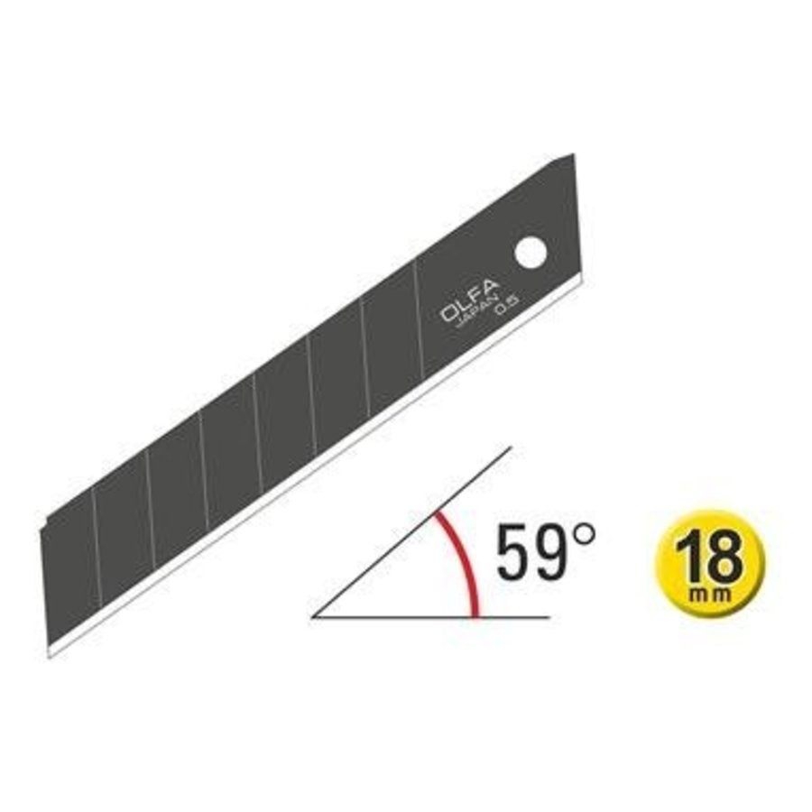 120-LBB-50 18mm Excel Schwarz Ultra-Sharp Snap-Off Blades-1