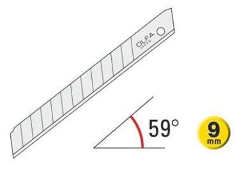 OLFA® 120-ASB-10 9mm Silver Snap-Off Blades 10 Stück