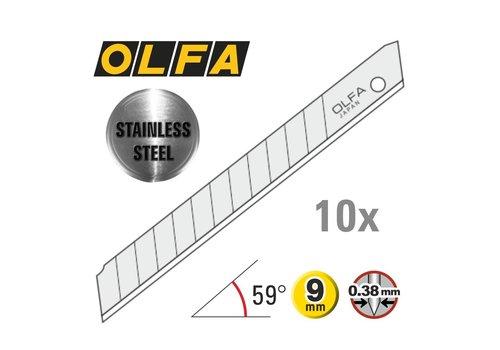 OLFA® 120-AB-10S 9mm Edelstahl Abbrechklingen -10er Pack