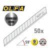 OLFA® 120-AB-50S 9 mm Edelstahl Abbrechklingen -50er Pack