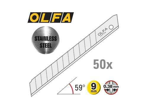 OLFA® 120-AB50S  9 mm Edelstahl Abbrechklingen -50er Pack