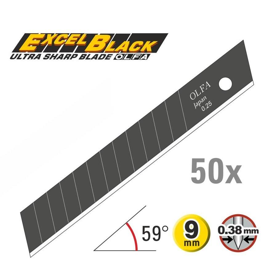 120-ABB-50 9mm Schwarz Ultra-Sharp Klingen -50er Pack-1