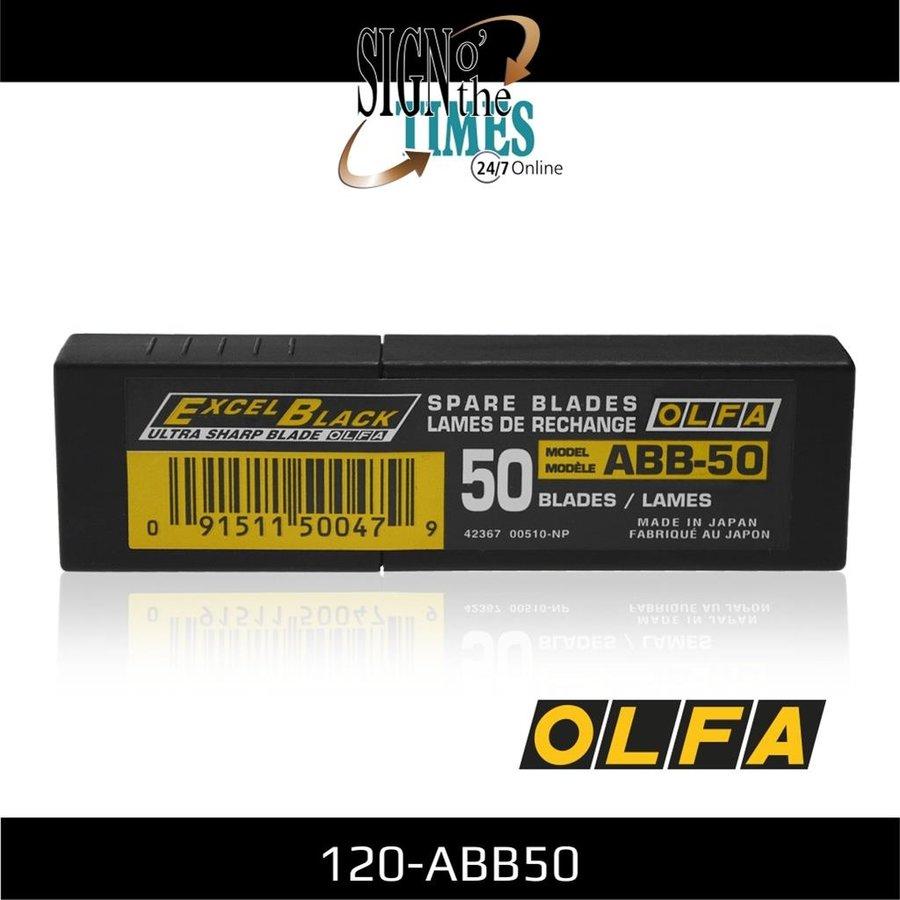 120-ABB-50 9mm Schwarz Ultra-Sharp Klingen -50er Pack-2
