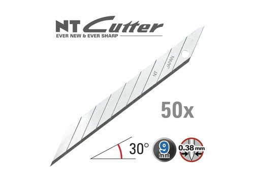NT-Cutter® 120-BD100a Abbrechklingen 30° Superscharf -50er Pack