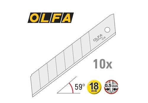 OLFA® 18mm Abbrechklingen Silber -10er Pack