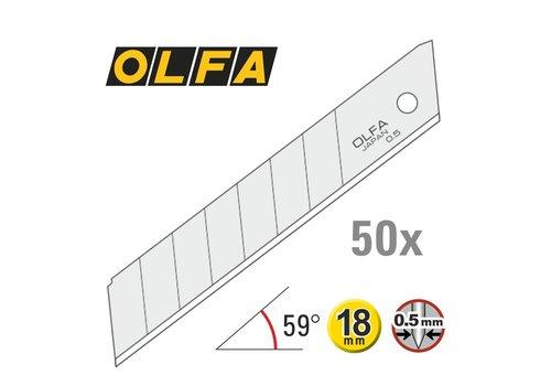 OLFA® 120-LB50 OLFA 18mm Abbrechklingen Silber -50er Pack