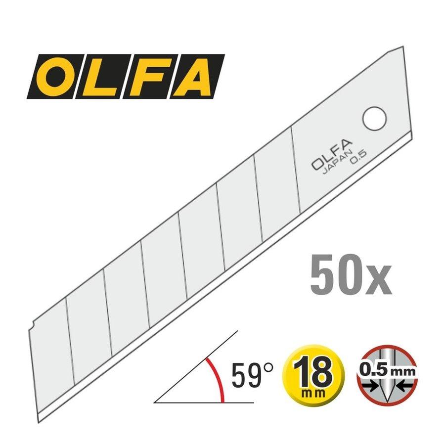 120-LB-50 OLFA 18mm Abbrechklingen Silber -50er Pack-1