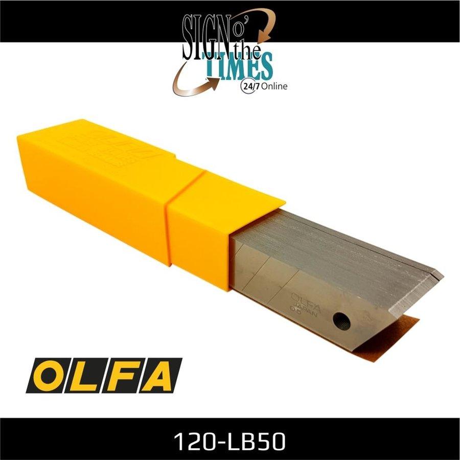 120-LB-50 OLFA 18mm Abbrechklingen Silber -50er Pack-2